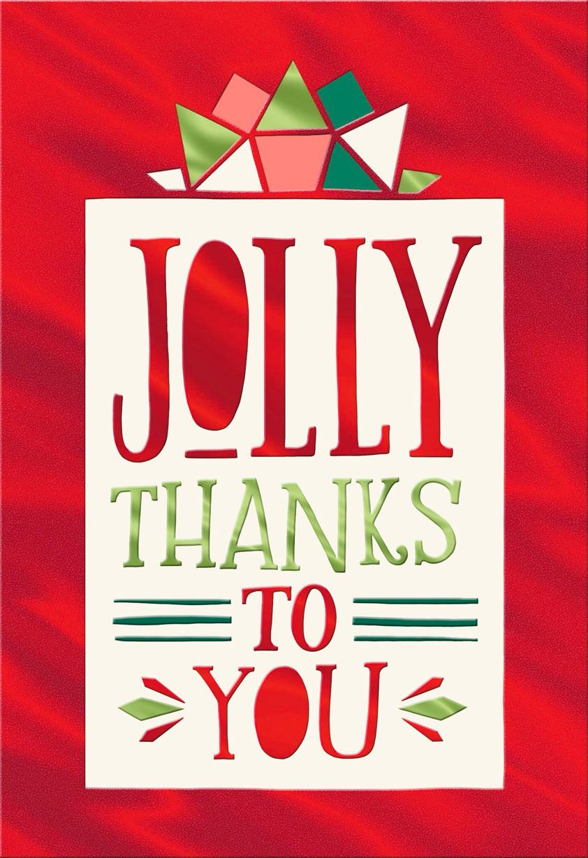 jolly thanks blank christmas card - greeting cards