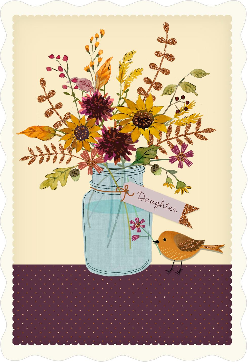 you u0026 39 re a joy thanksgiving card for daughter