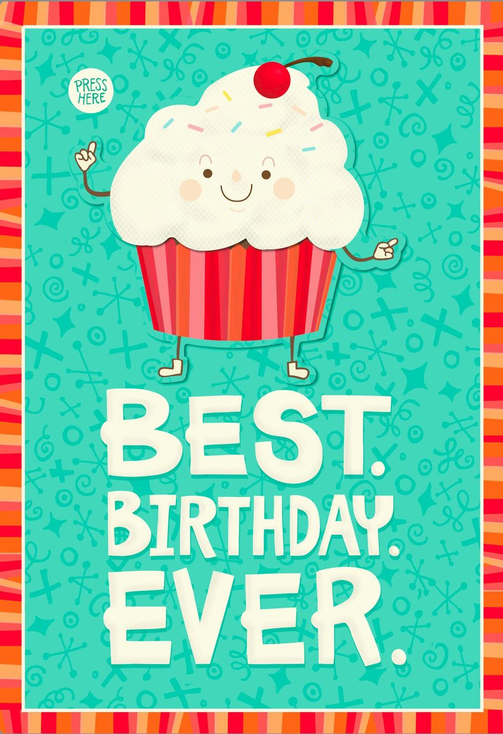 Dancing Cupcake Musical Birthday Card With Motion Greeting Cards – Cupcake Birthday Card