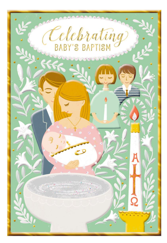 Couple Holding Baby Baptism Card Greeting Cards Hallmark