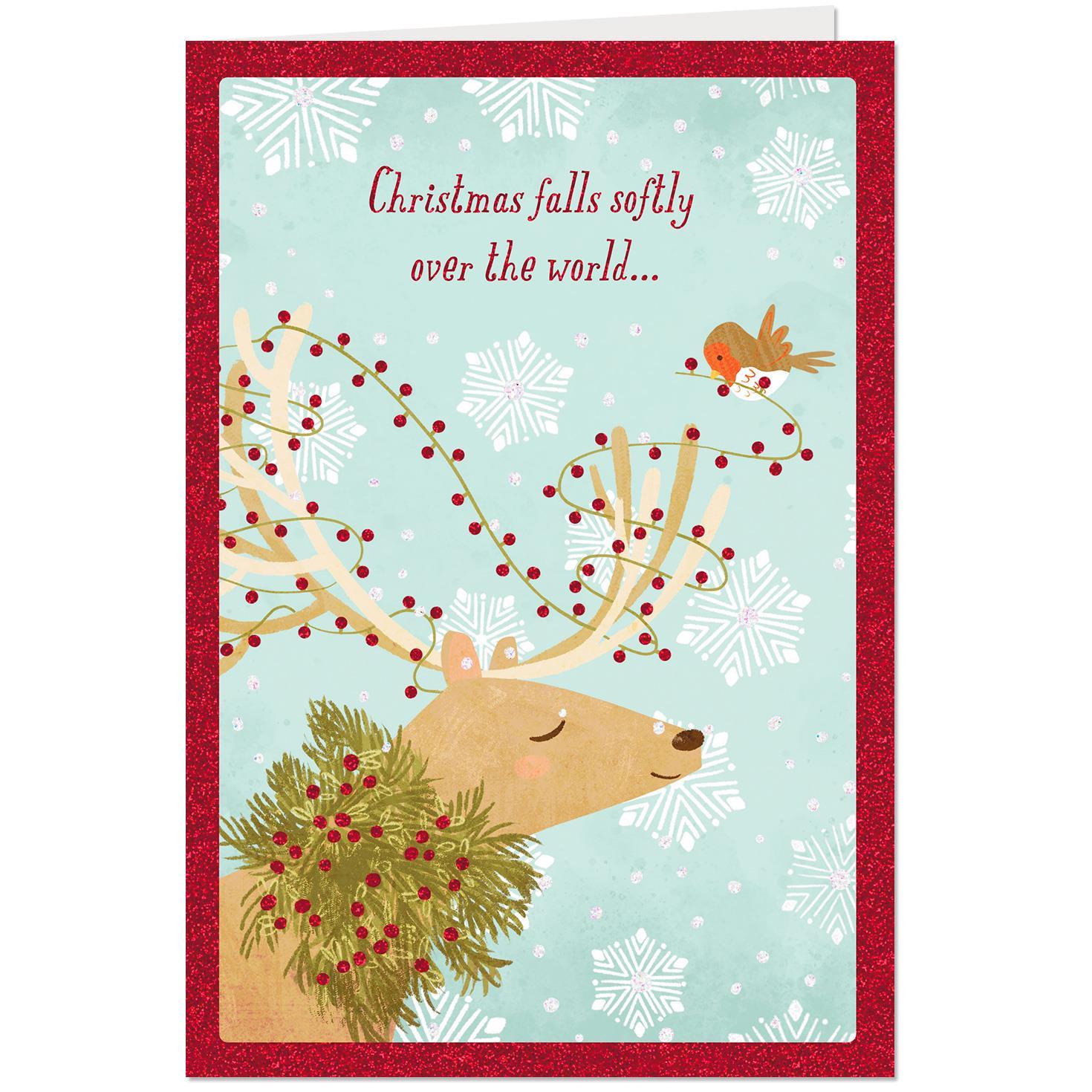 UNICEF Reindeer And Falling Snowflakes Christmas Card