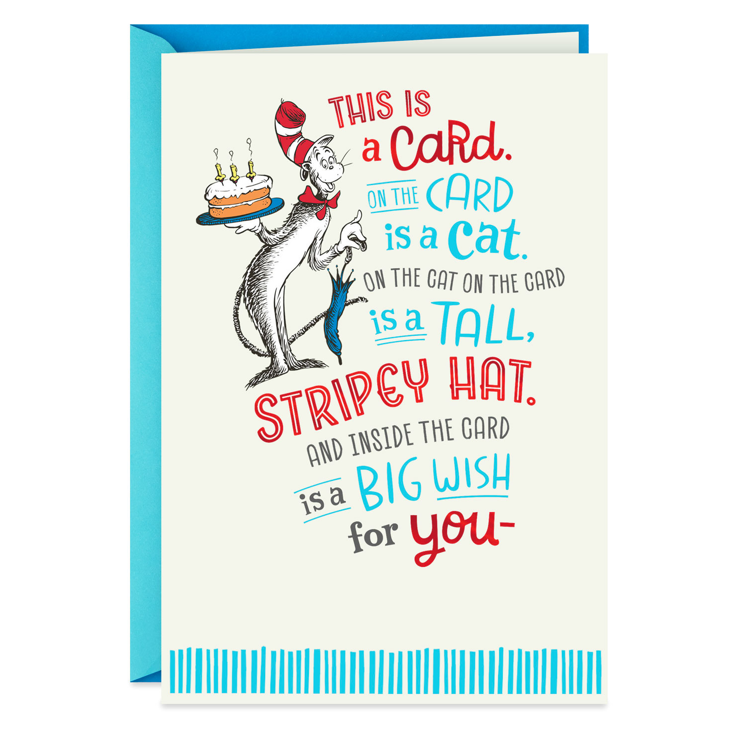 Dr. Seuss™ The Cat In The Hat Big Wish Birthday Card