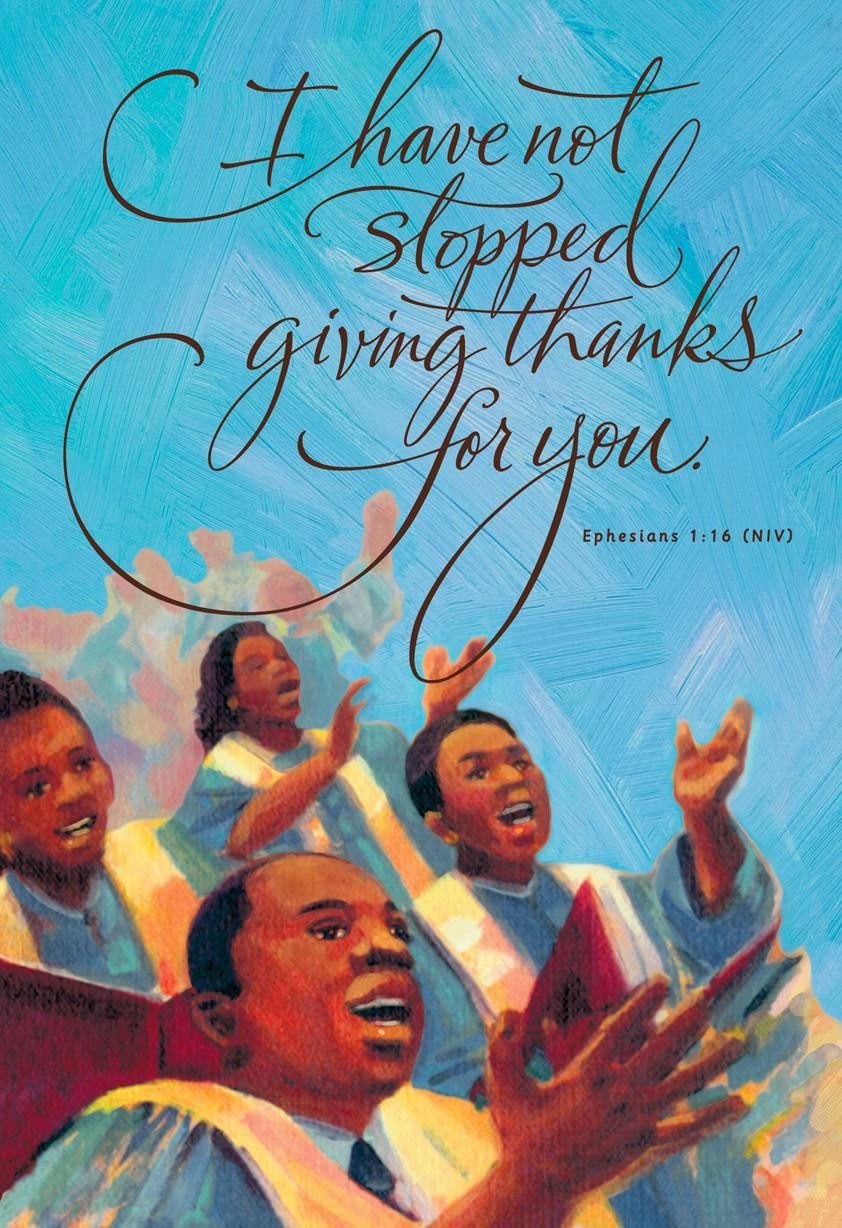 African American Choir Blessing Birthday Card Greeting