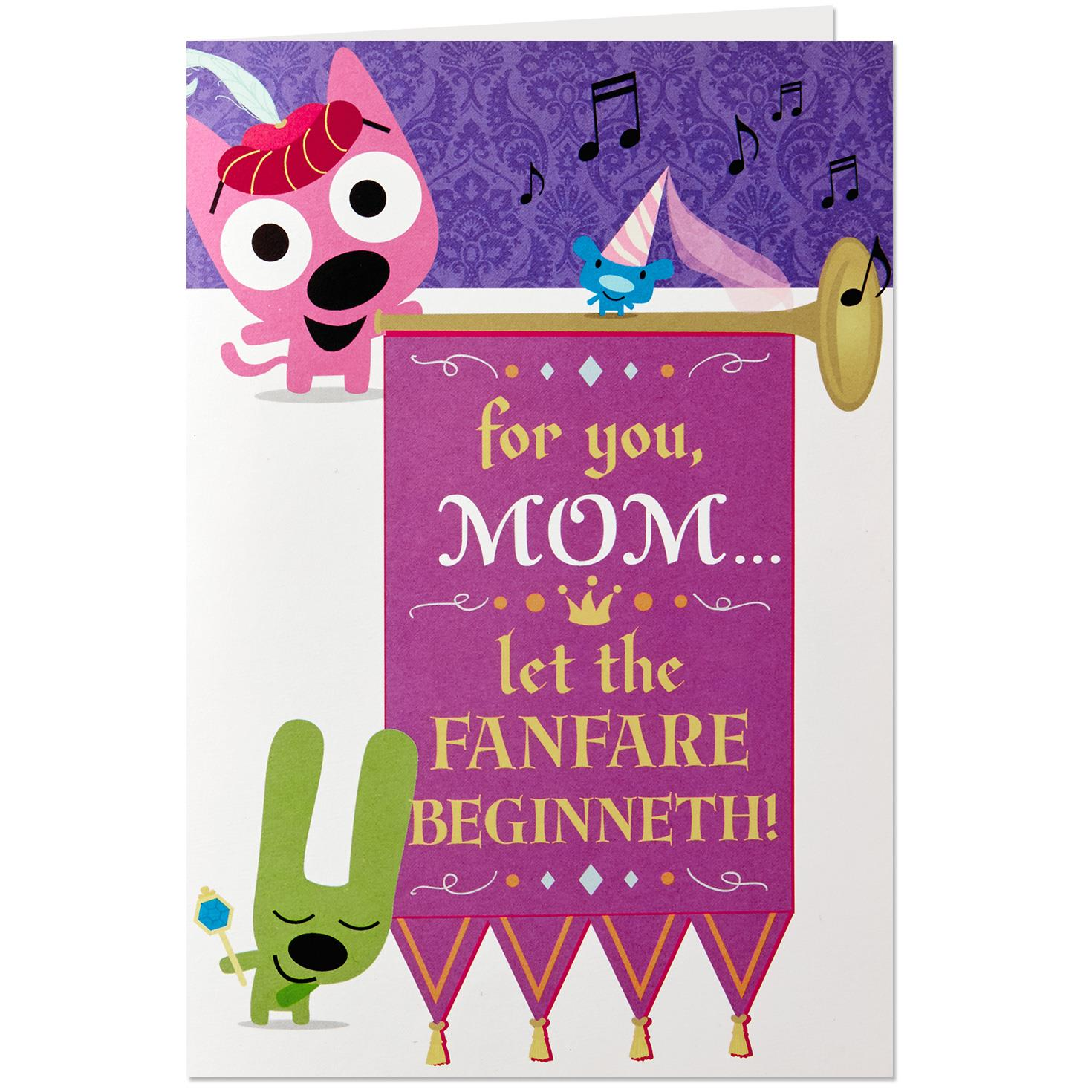 Hoopsyoyo Mothers Day Sound Card With Motion Greeting Cards