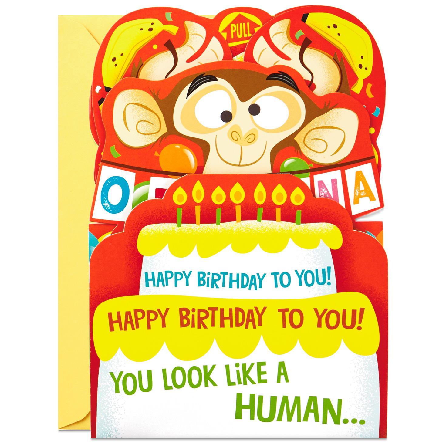 Go Bananas Monkey Pop Up Birthday Card Greeting Cards Hallmark