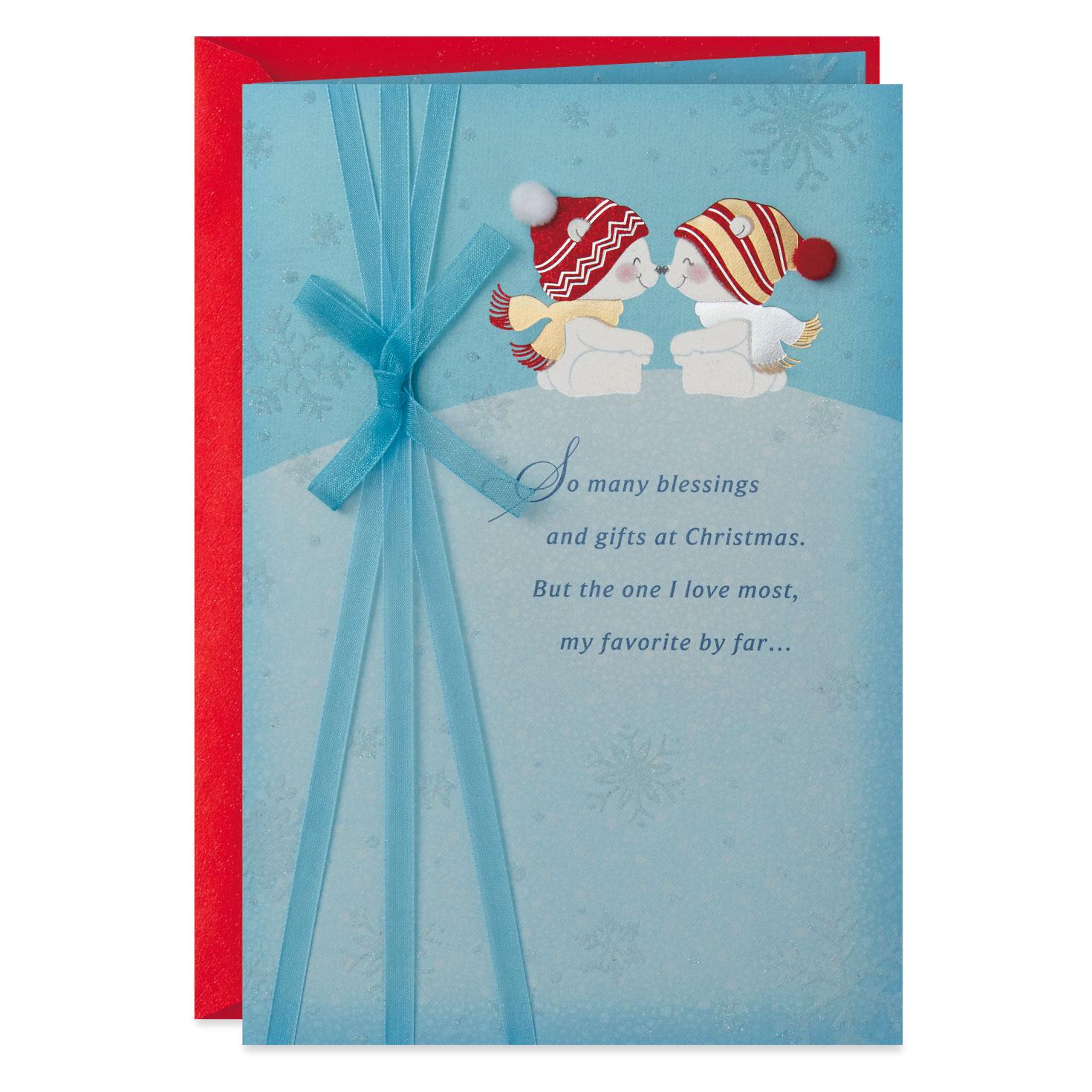 Religious Christmas Gifts.God S Gift Polar Bear Couple Religious Christmas Card