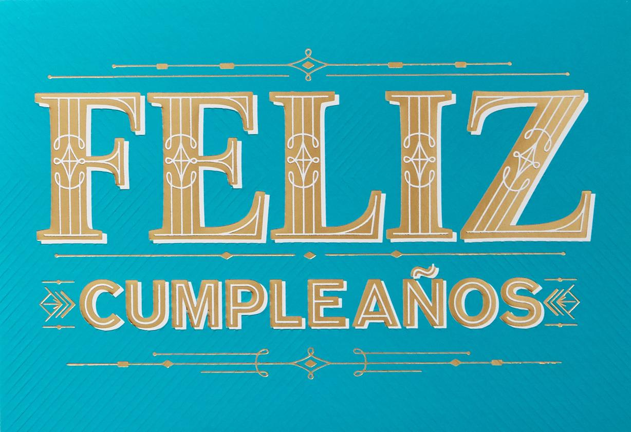 Feliz Cumpleaos Spanish Language Birthday Card Greeting Cards