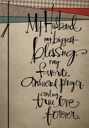 My Answered Prayers Husband Birthday Card - Greeting Cards ...
