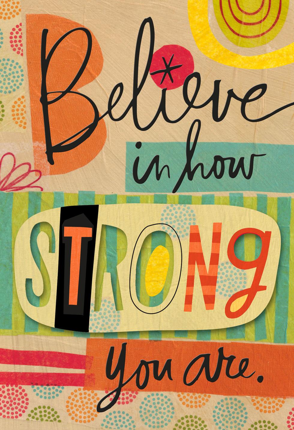 i believe in you collage encouragement card