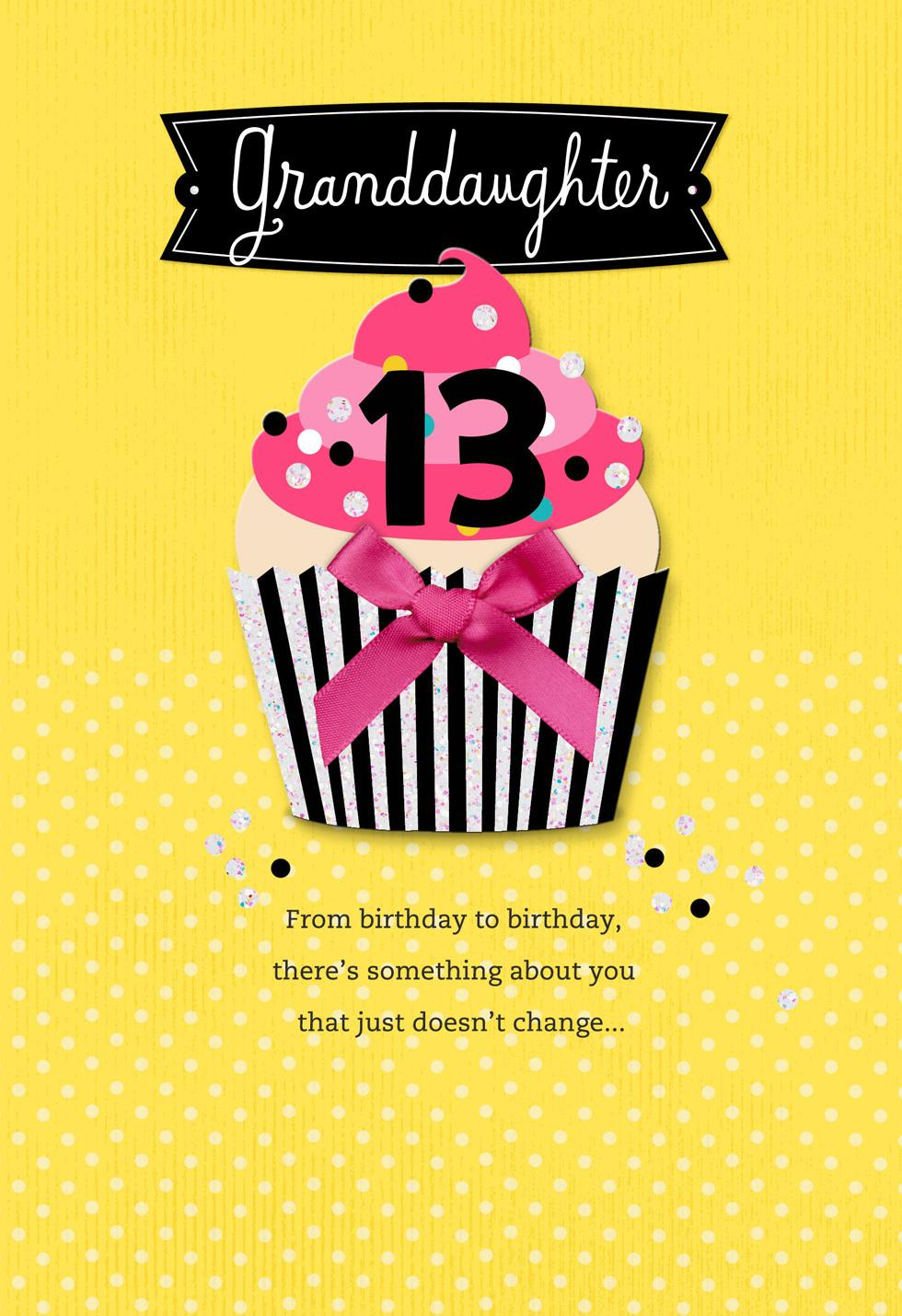 pretty cupcake 13th birthday card for granddaughter greeting cards