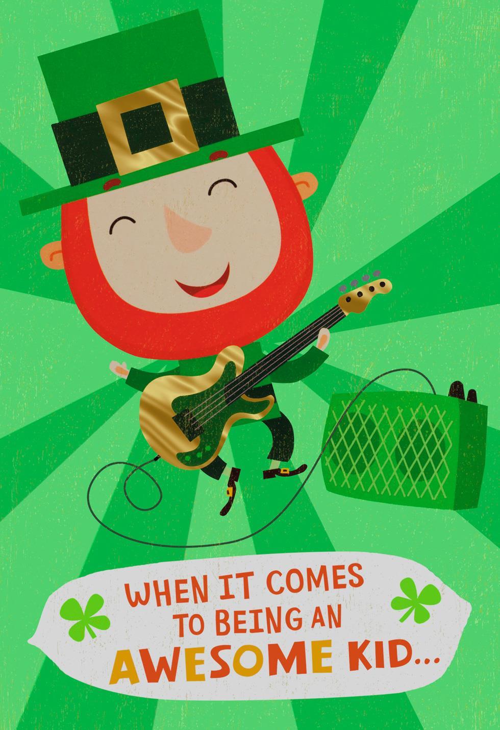 You Shamrock Leprechaun Kids St Patricks Day Card Greeting
