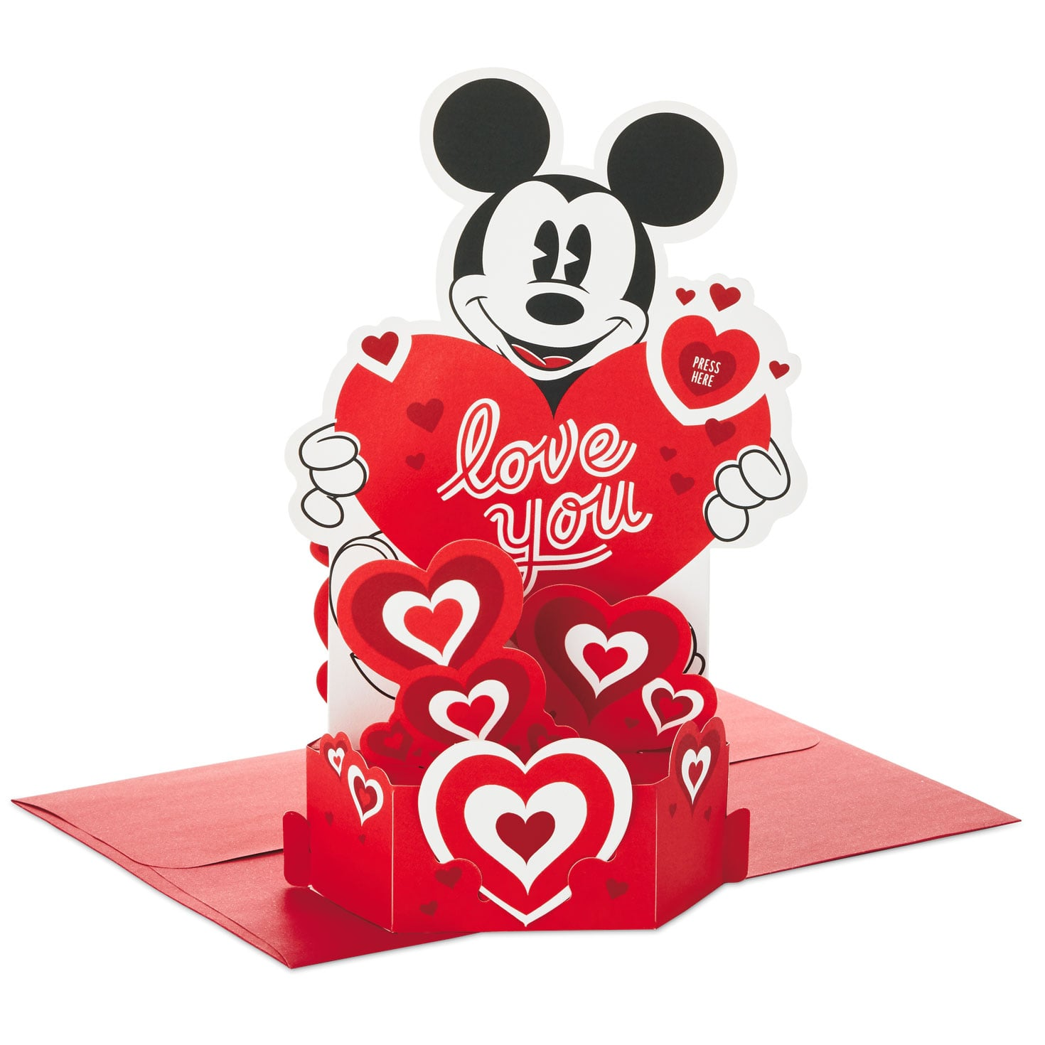 Disney Mickey Mouse Love You Musical 3D Pop-Up Valentine's ...