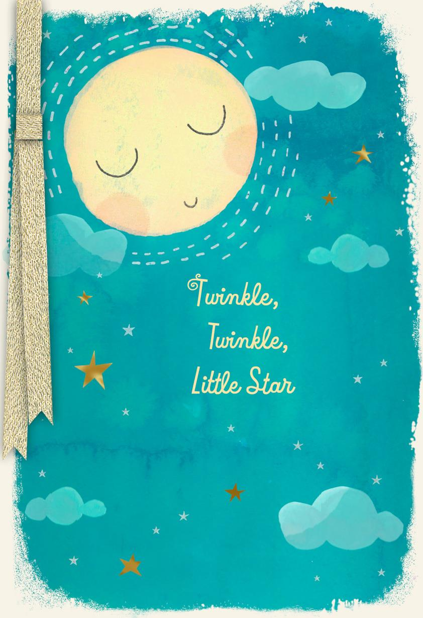 Twinkle Twinkle Little Star New Baby Card Greeting