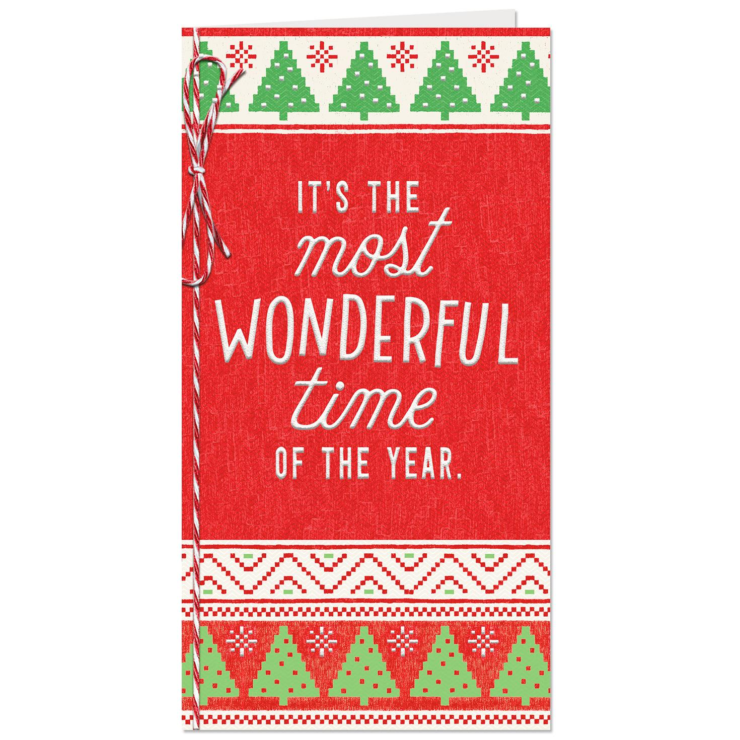 most wonderful time money holder christmas card - Christmas Card Money Holder