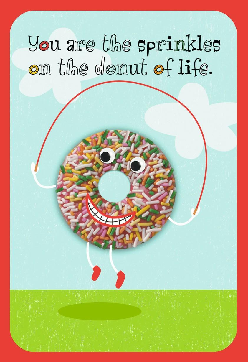 donut sprinkles love card - greeting cards