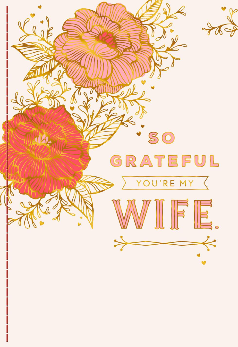 So Grateful Valentines Day Card For Wife Greeting Cards
