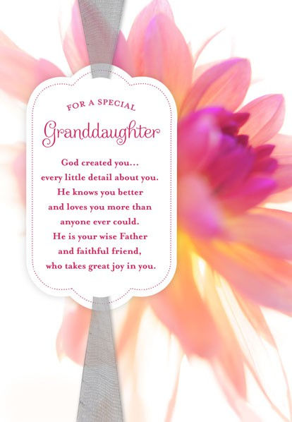 God Created You Granddaughter Birthday Card Greeting Cards – Granddaughter Birthday Cards