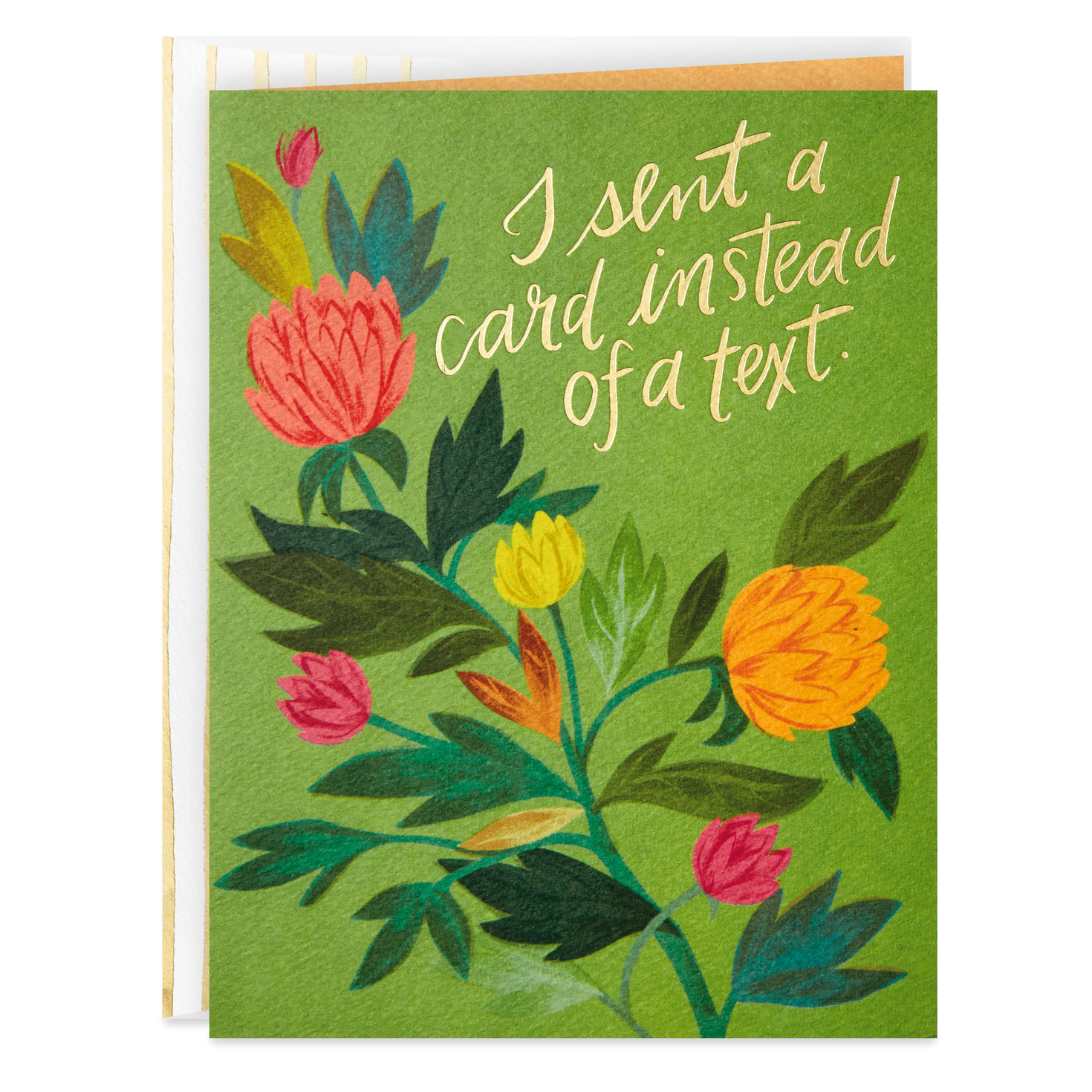 I Sent A Card Instead Of A Text Funny Thinking Of You Card