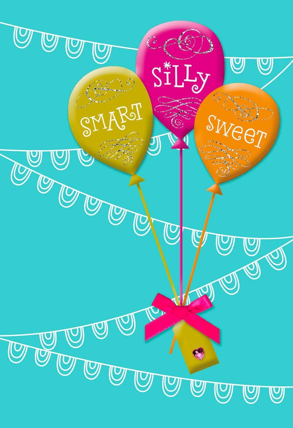 Balloons Birthday Card For Goddaughter