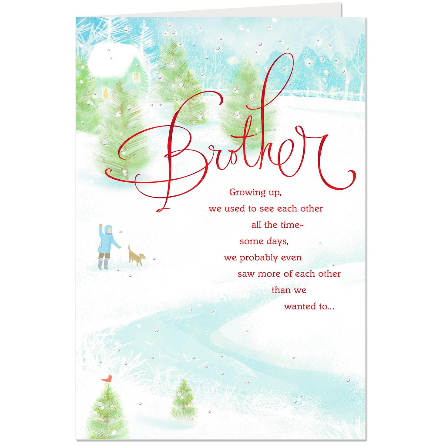 You Are a Gift Christmas Card for Brother - Greeting Cards - Hallmark