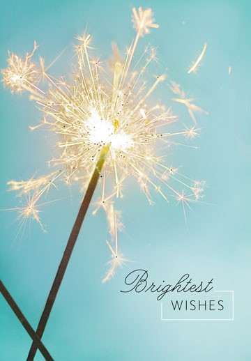 sparkling wishes birthday card - end of life