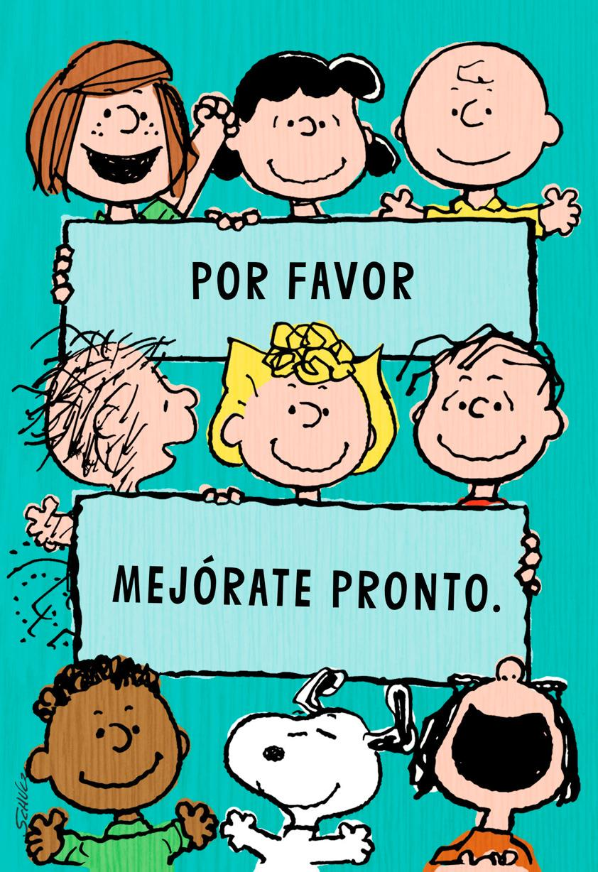 Peanuts Gang Spanish Language Card From Us Greeting Cards Hallmark