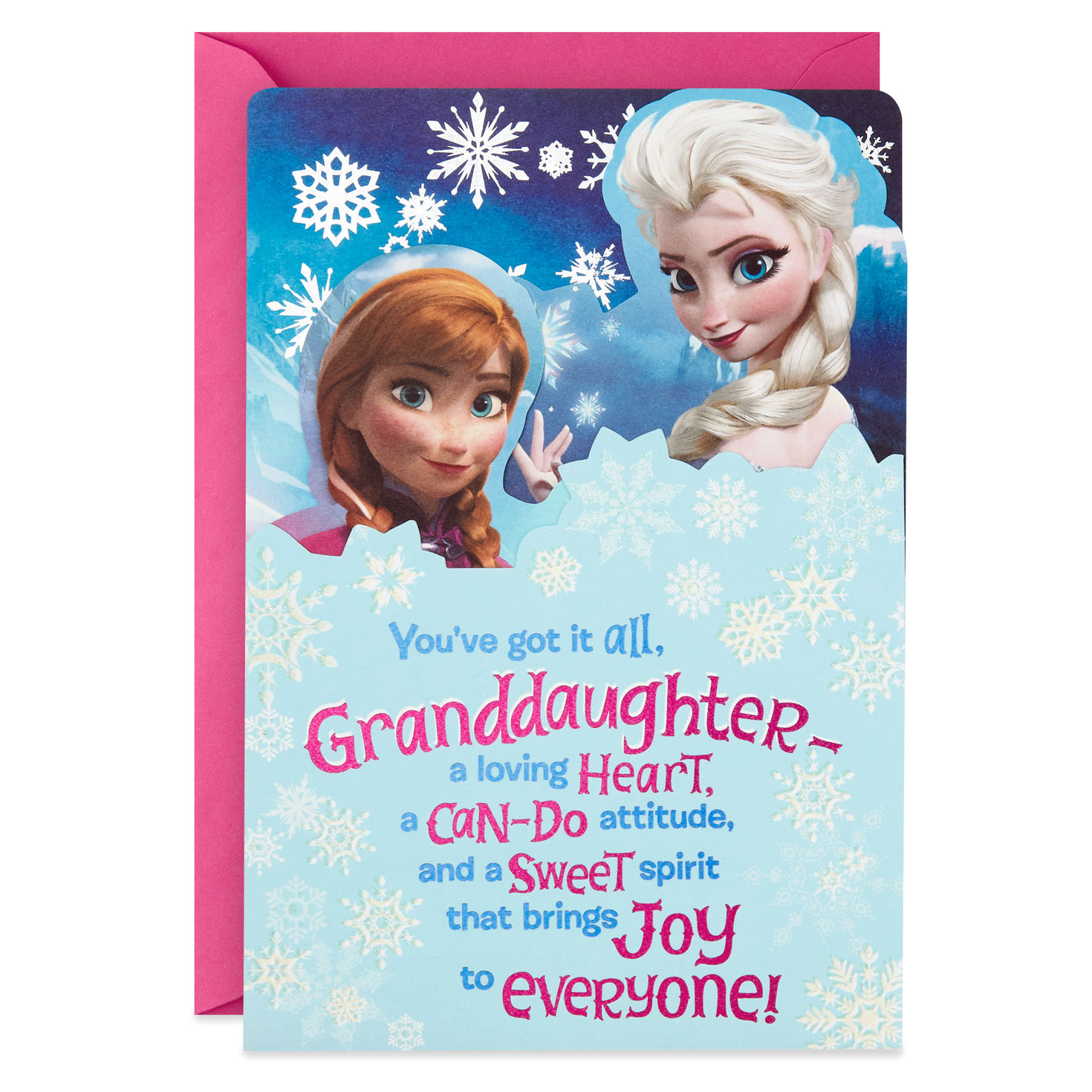 Granddaughter to be proud of you Traditional Christmas Lovely Verse New Card