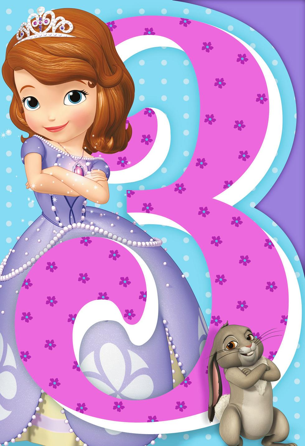 Sofia The First Musical 3rd Birthday Card Greeting Cards