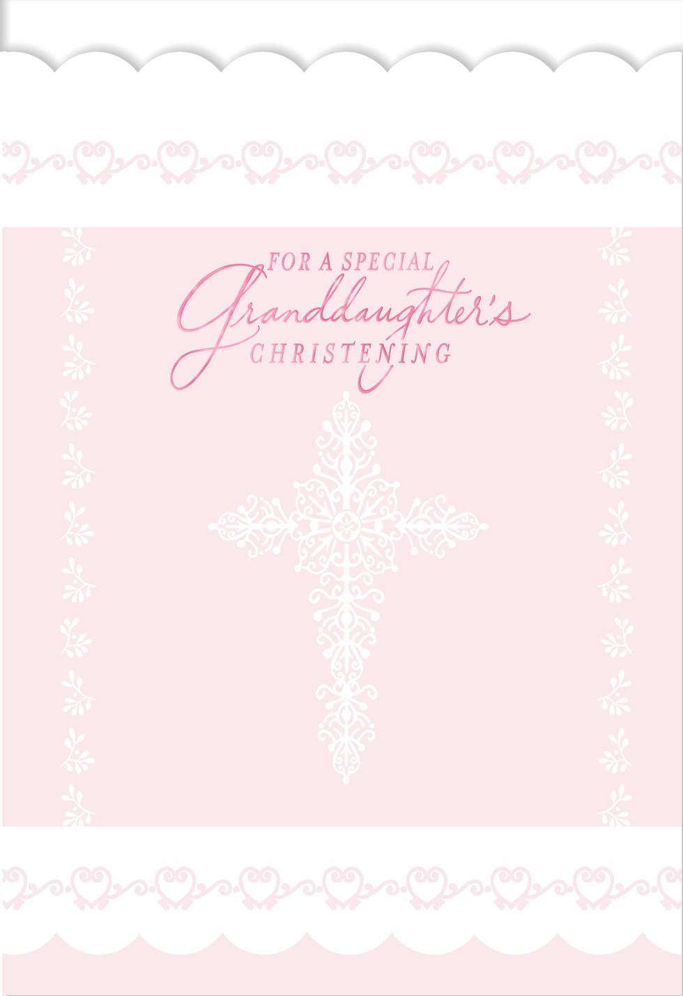 For a special granddaughters christening card greeting cards for a special granddaughters christening card kristyandbryce Choice Image