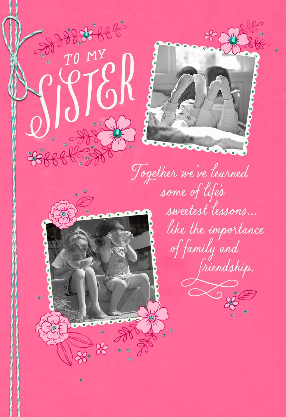 Lucky you are my sister mothers day card greeting cards hallmark lucky you are my sister mothers day card m4hsunfo