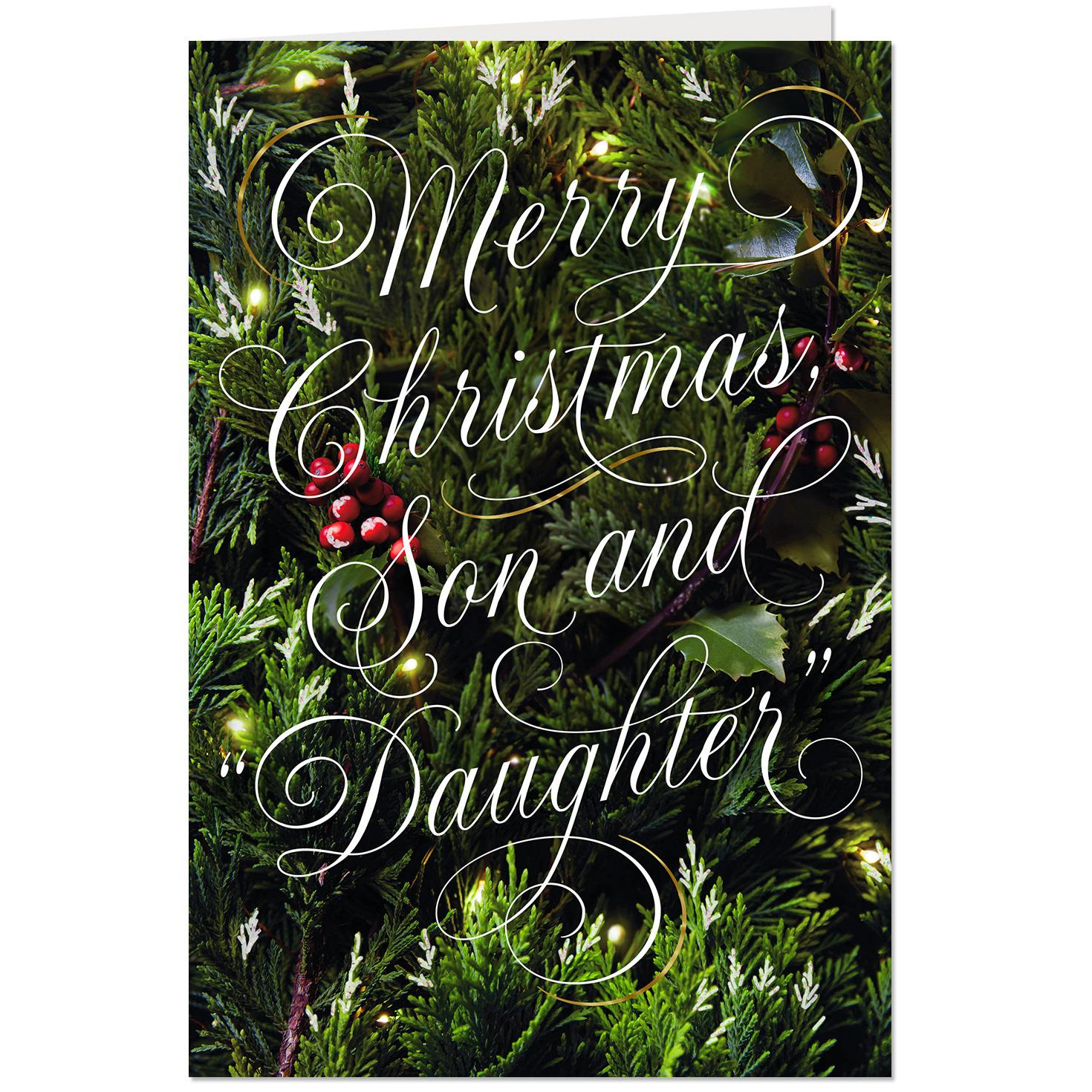 Wonderful Time Of Year Christmas Card For Son And Daughter