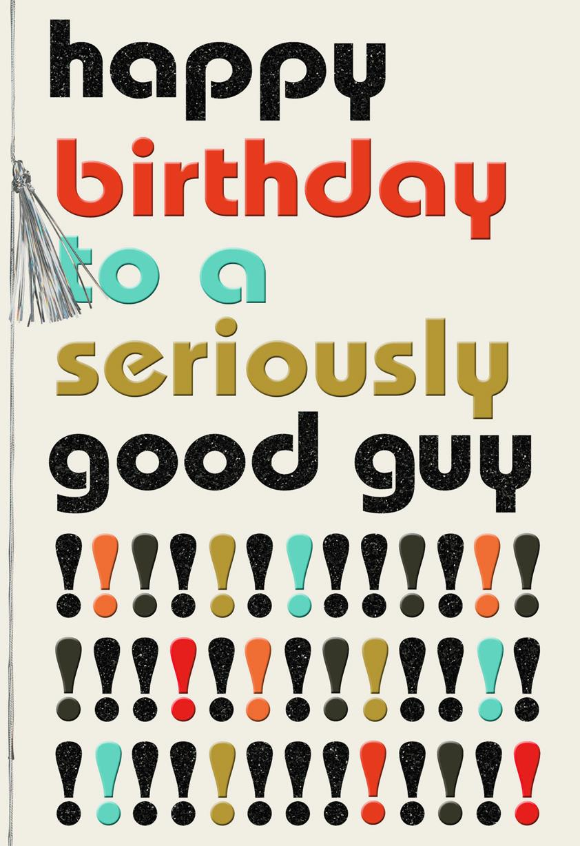 To A Seriously Good Guy Retro Birthday Card Greeting