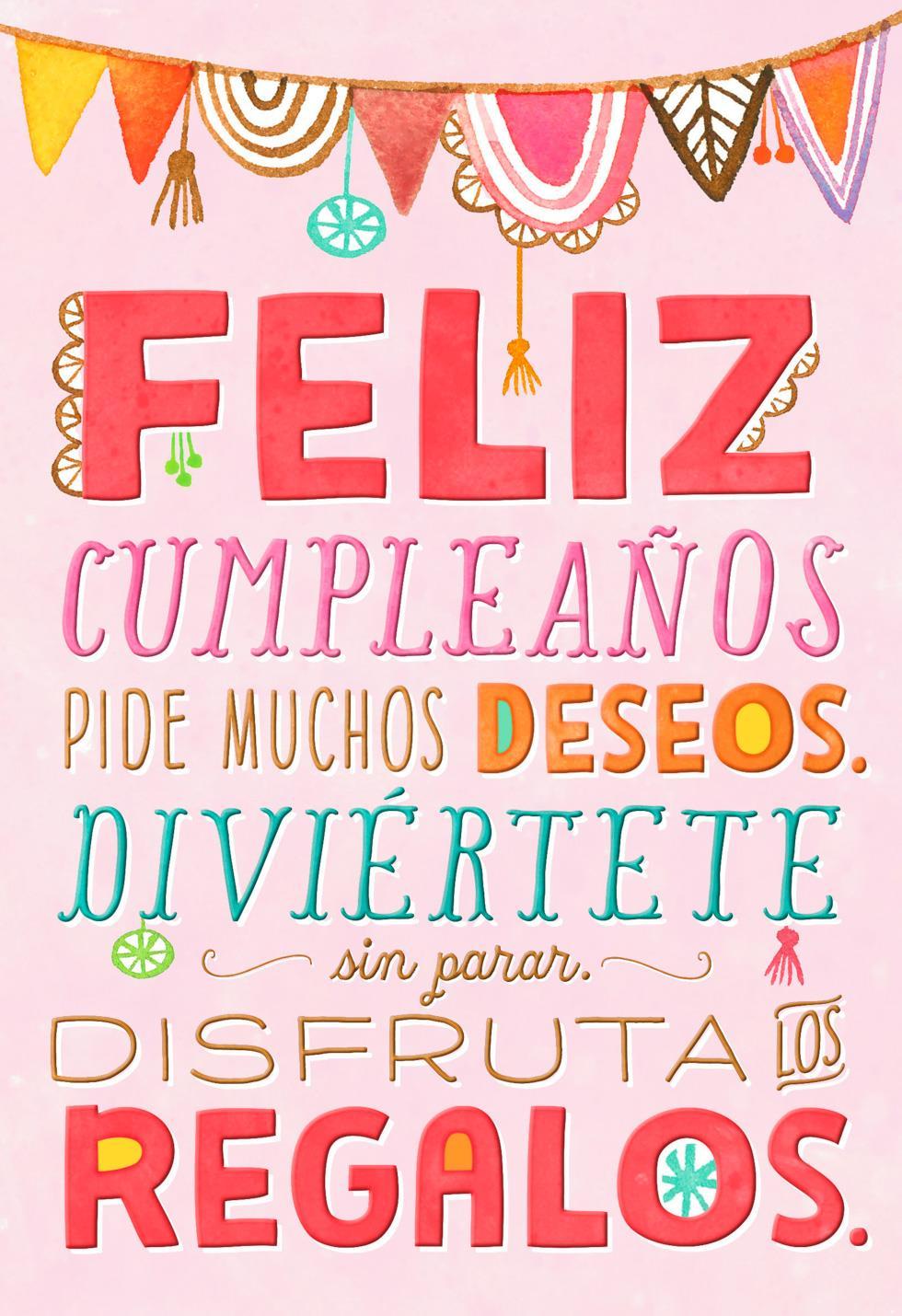 it's your day spanishlanguage birthday card  greeting