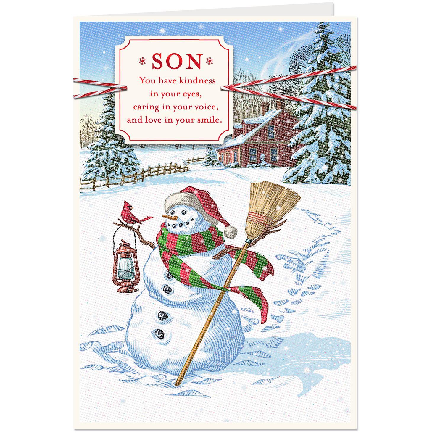 Snowman Christmas Card for Son - Greeting Cards - Hallmark