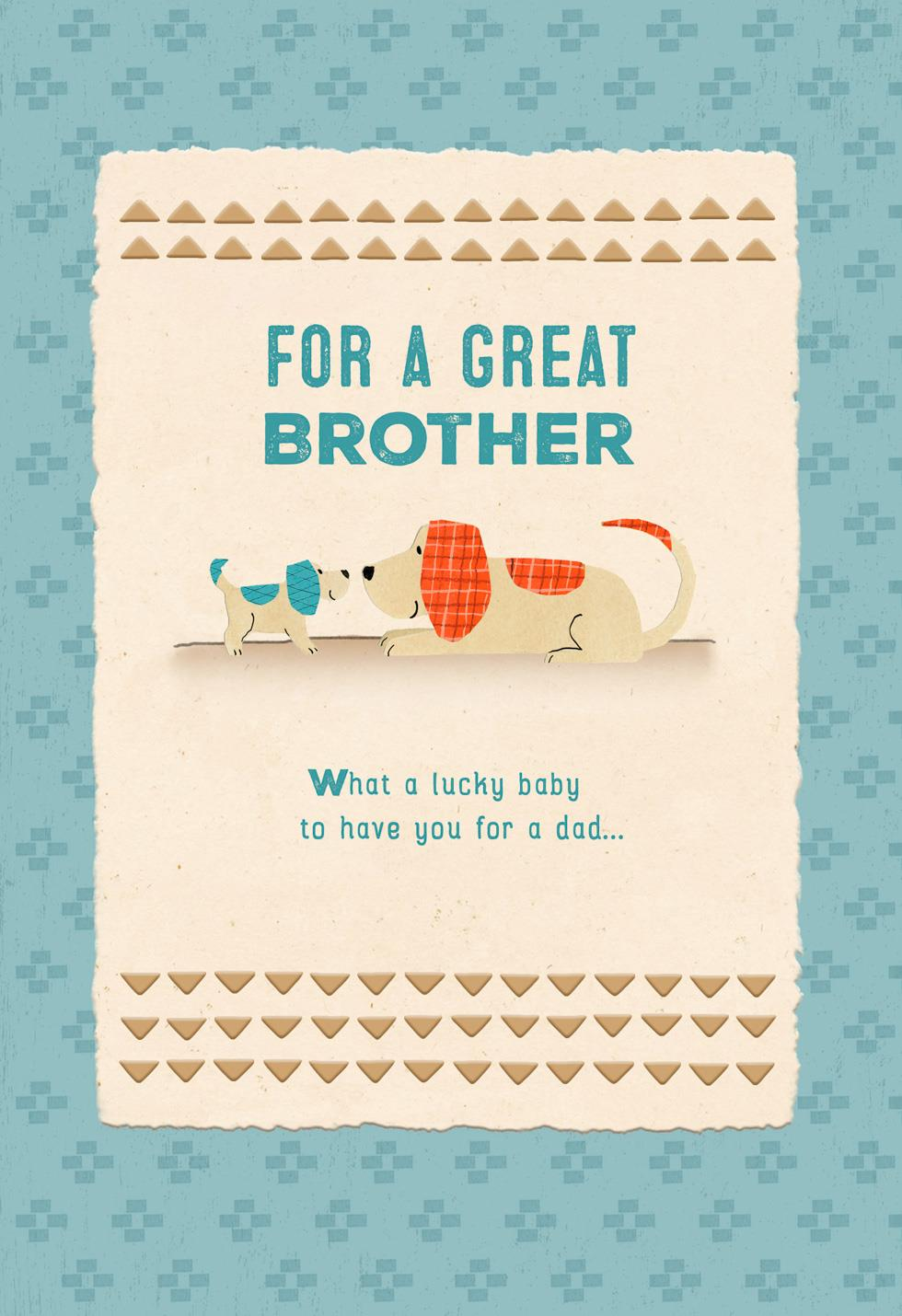 Lucky Baby Lucky Family Brothers First Fathers Day Card Greeting