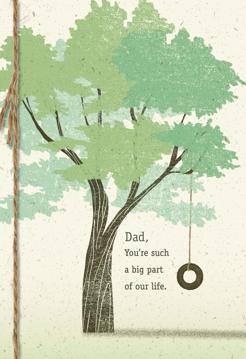 tree with tire swing father u0026 39 s day card from family