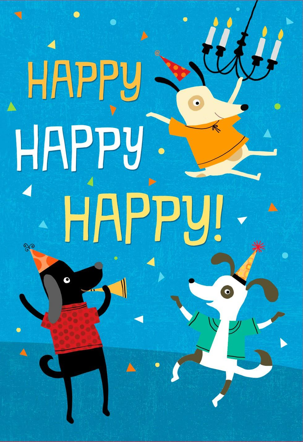 Who Let The Dogs Out Musical Birthday Card
