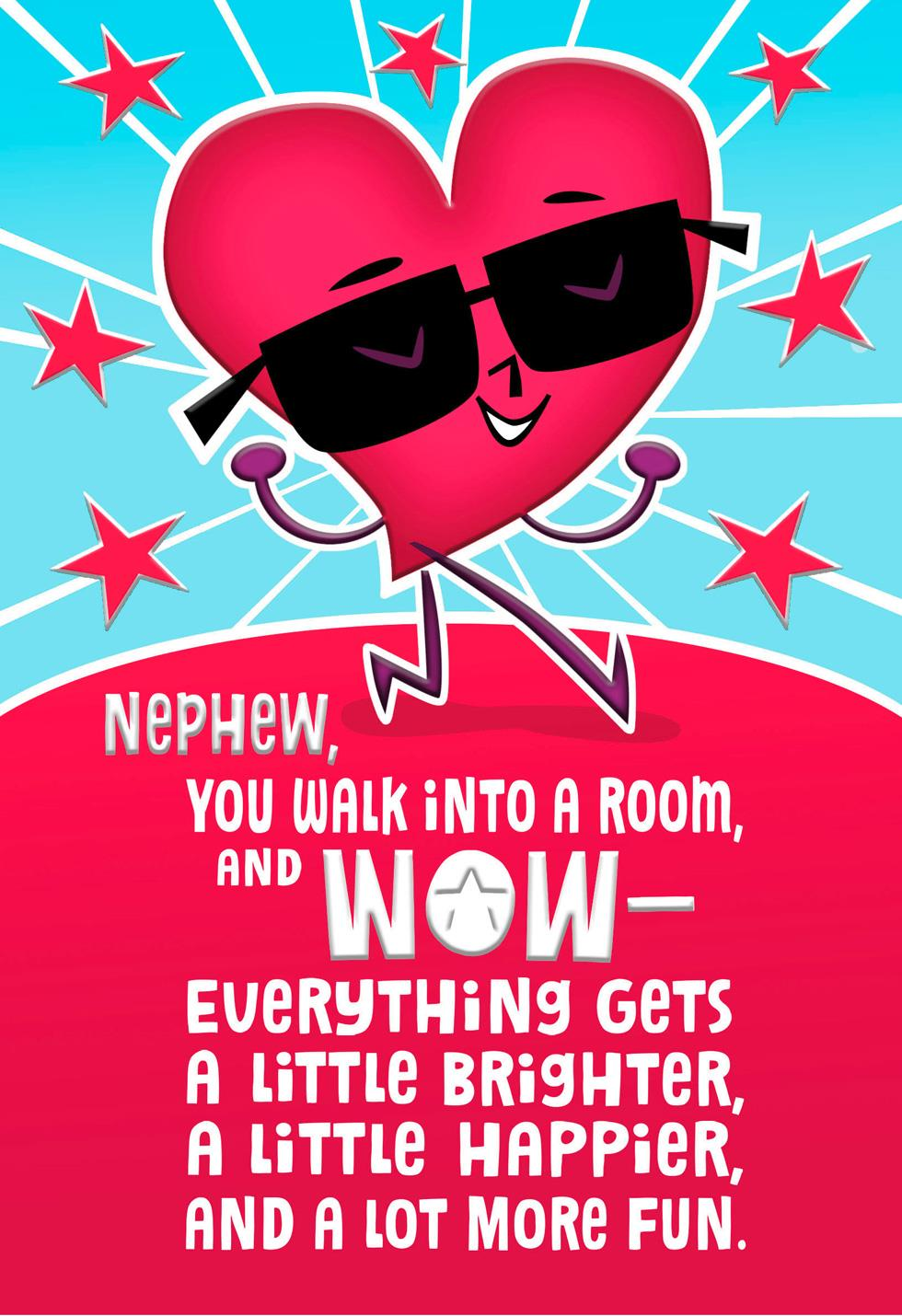 Awesome Effect Valentine S Day Card For Nephew Greeting