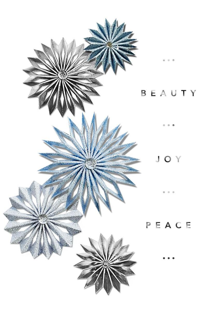 Flower snowflakes christmas card greeting cards hallmark Hallmark flowers