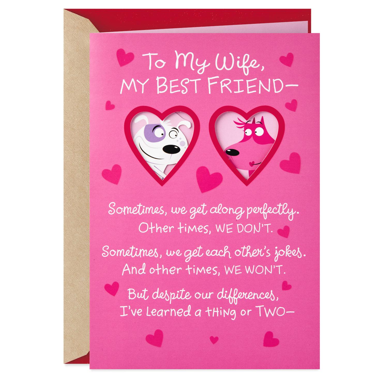 to my wife my best friend valentine's day card  greeting