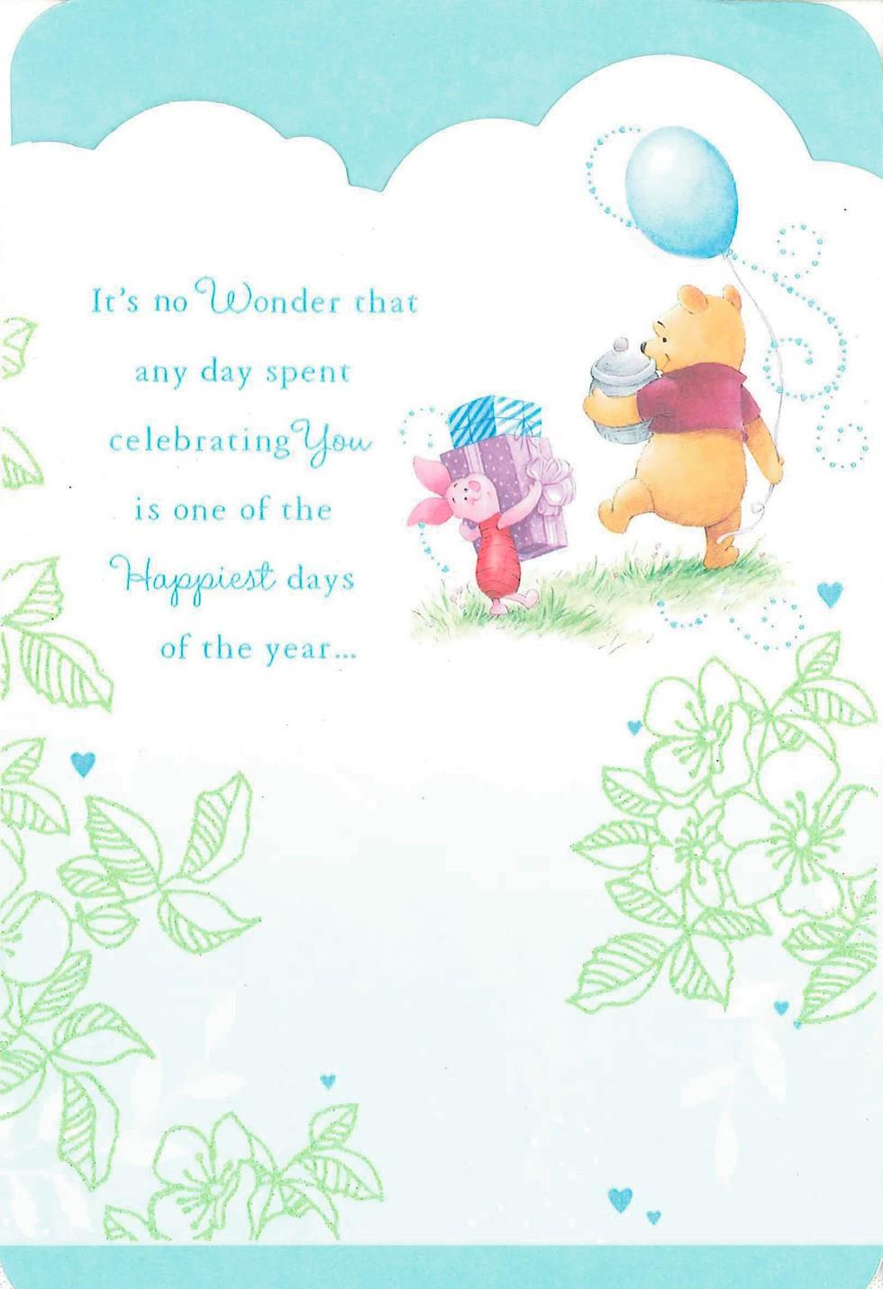 Winnie the Pooh Happiest Days Friend Birthday Card ...