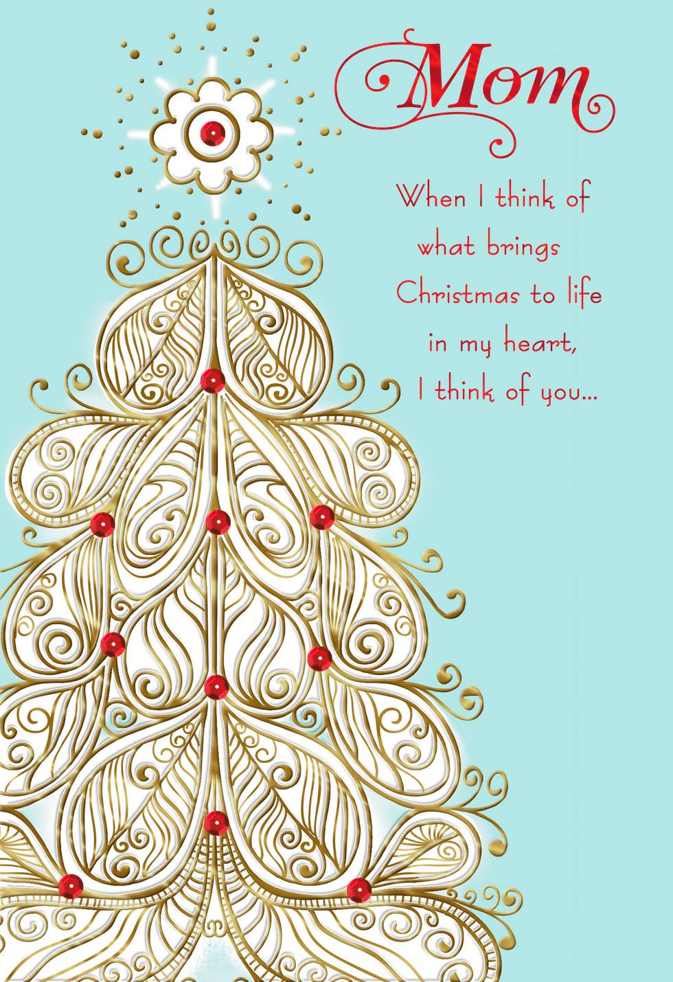 The Love You Give Christmas Card For Mom Greeting Cards Hallmark