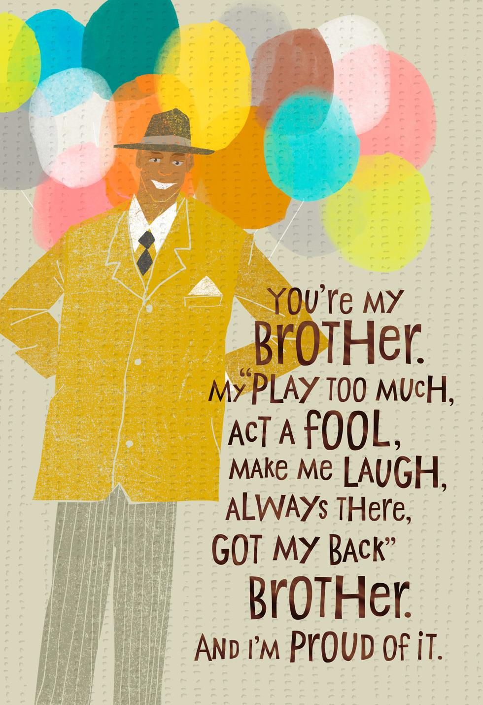 Brother Love Birthday Card | Tuggl