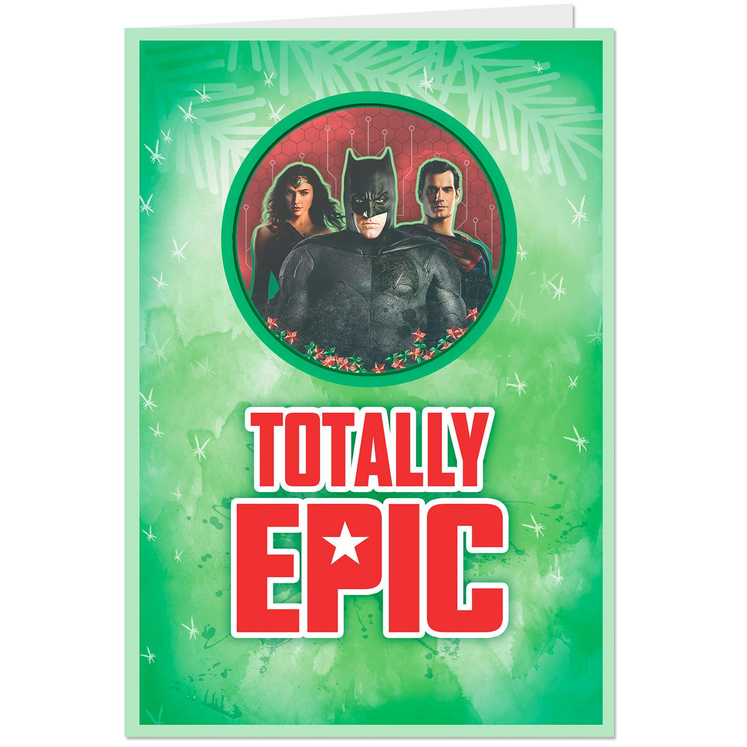 Justice League™ Totally Epic Musical Christmas Card - Greeting Cards ...