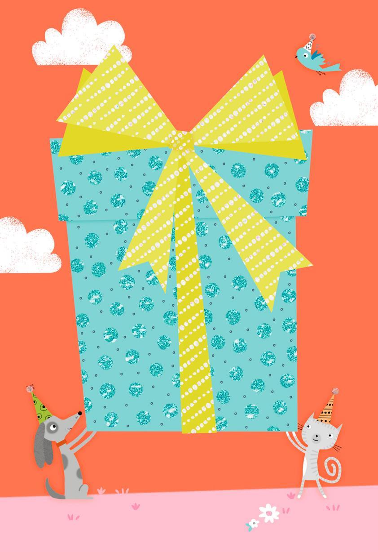 Colossal Gift Blank Birthday Card