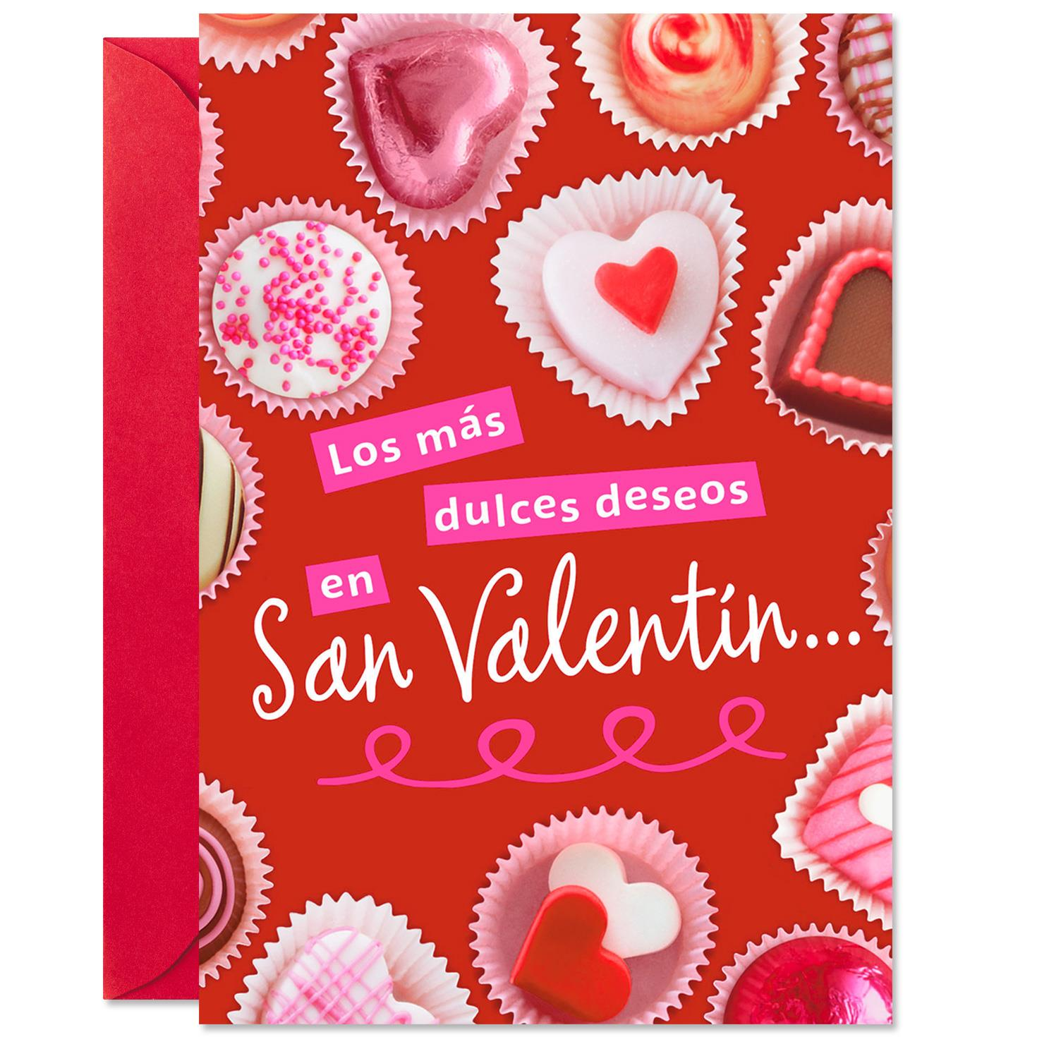 Chocolate Candy Spanish Language Valentineu0027s Day Cards, Pack Of 6
