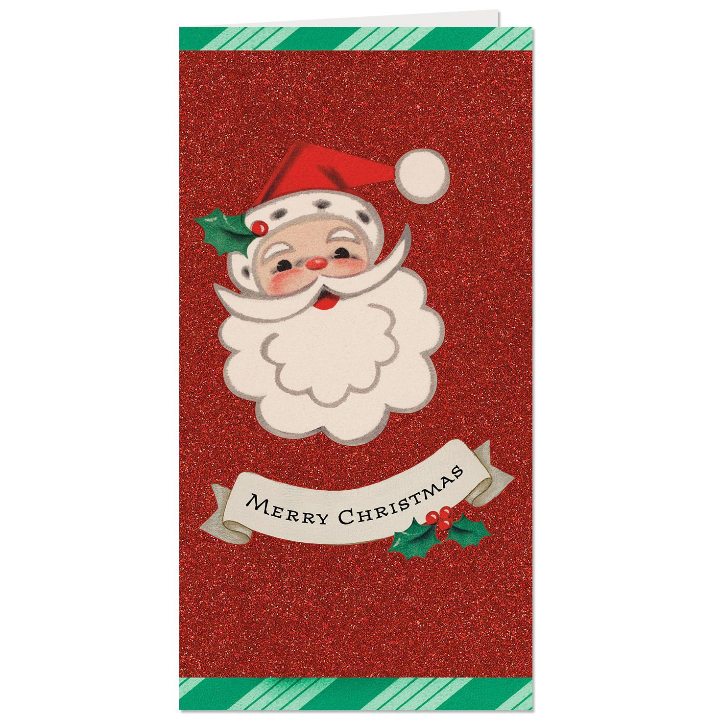 vintage santa money holder christmas card - Christmas Card Money Holder