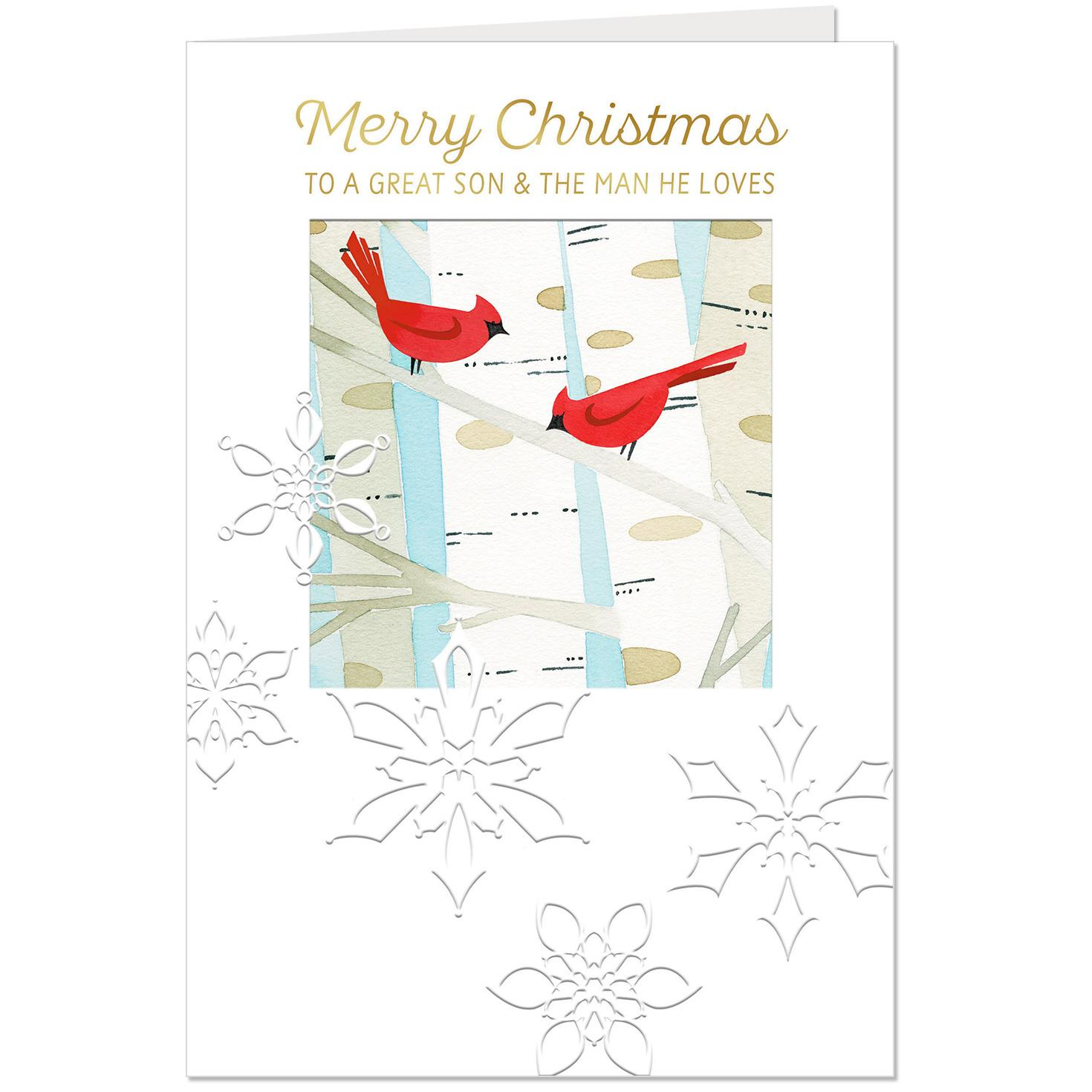Cardinals Christmas Card for Son and the Man He Loves - Greeting ...