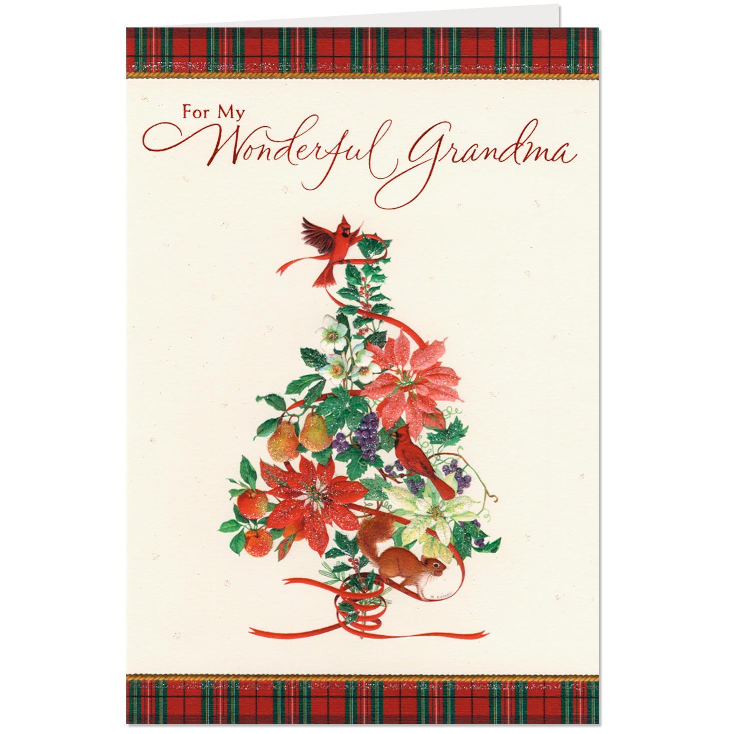 Grateful For You Christmas Card For Grandma