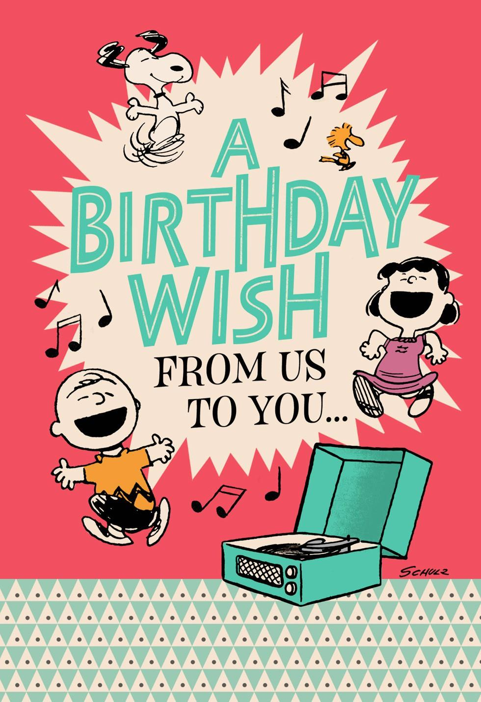 peanuts® happiness the whole year through birthday card